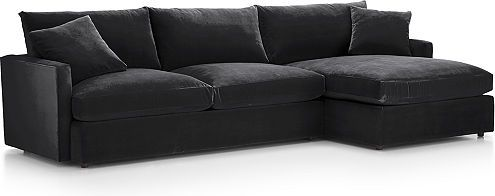 Peachy Lounge Ii Petite Sectional Sofas Crate And Barrel Pdpeps Interior Chair Design Pdpepsorg