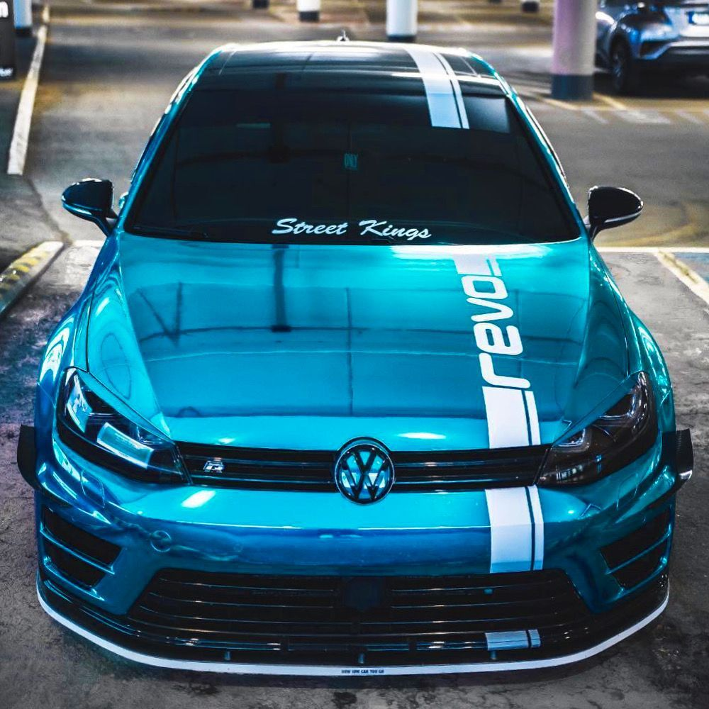 Chrome Blue Golf 7 R Topluxurycars En 2020 Autos Deportivos