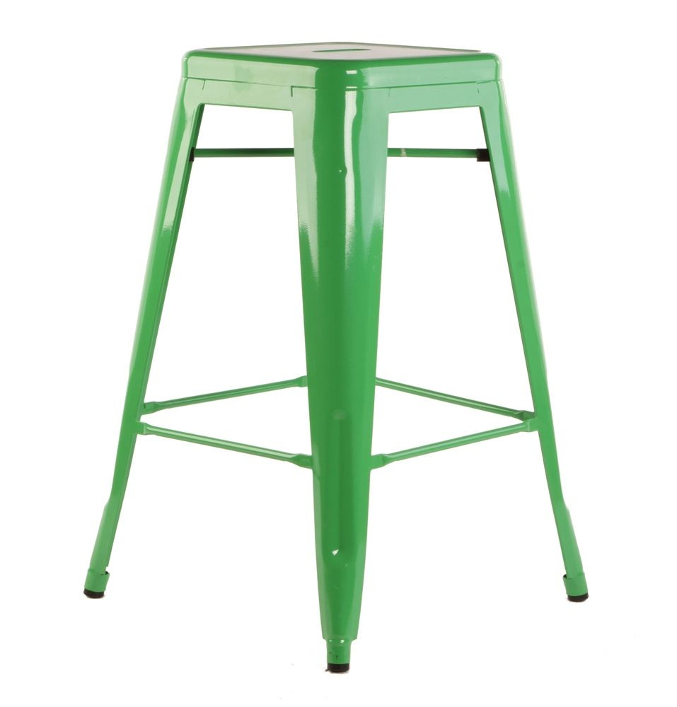 Replica Xavier Pauchard Tolix Stool 65cm (Powder Coated)   Matt Blatt