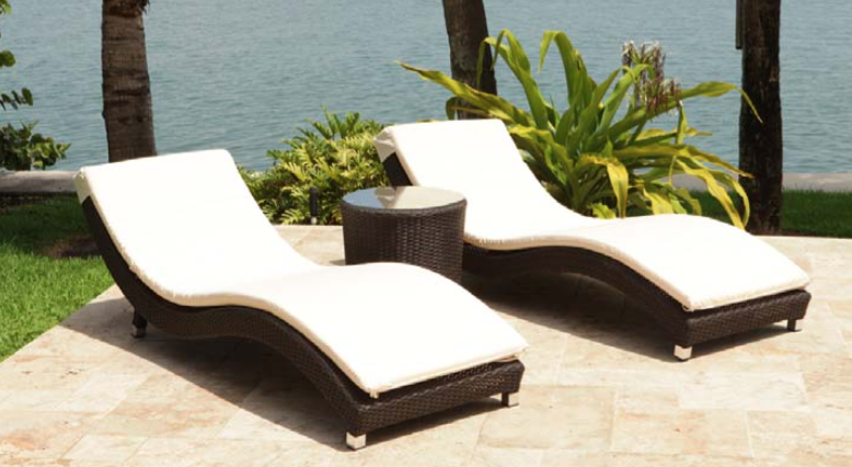 relaxing outdoor furniture. Sun loungers and day bed from DSL ...