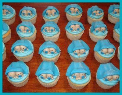 Twin Baby Shower Cupcakes Twins Baby Shower Twin Boys Baby Shower Baby Shower Decorations For Boys