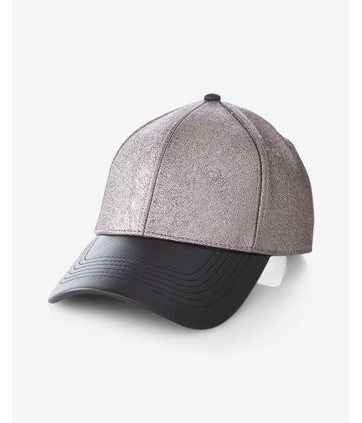 (Minus The) Leather Brim Metallic Baseball Hat