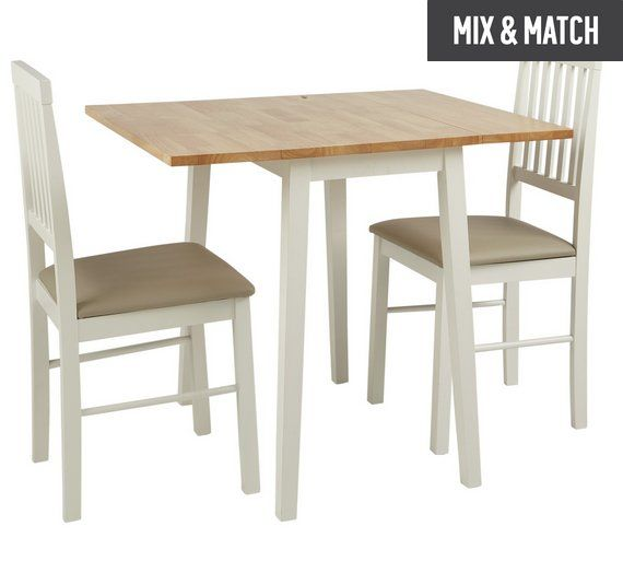 Buy Home Kendall Extendable Wood Table & 2 Chairs Two Tone At Gorgeous Kendall Dining Room Design Inspiration