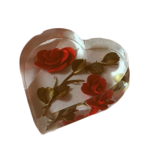 Transparent Aesthetic png heart rose Love png, Red