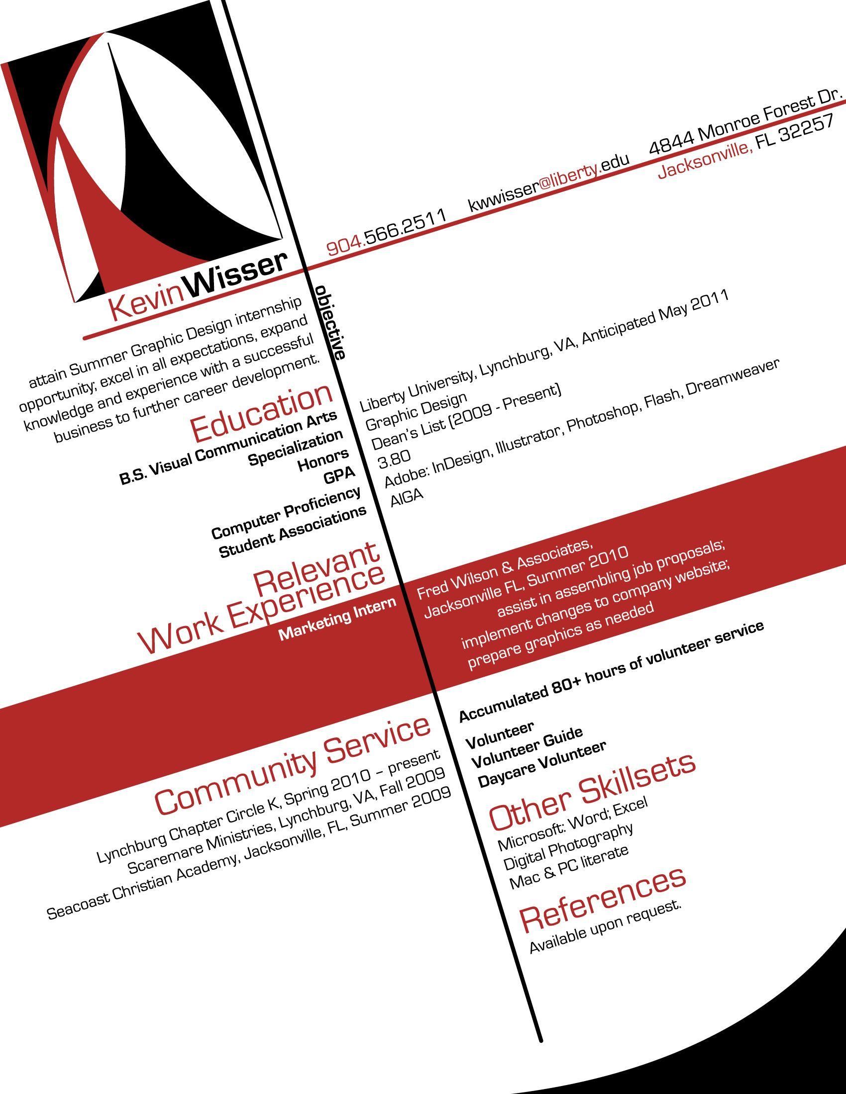 designing resumes