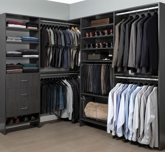 18 Stylish Walk In Closets For Every Modern Man Neatly Designed Organizer Organizing Expert Clearing Bedroom Closet Design Modern Closet Closet Designs
