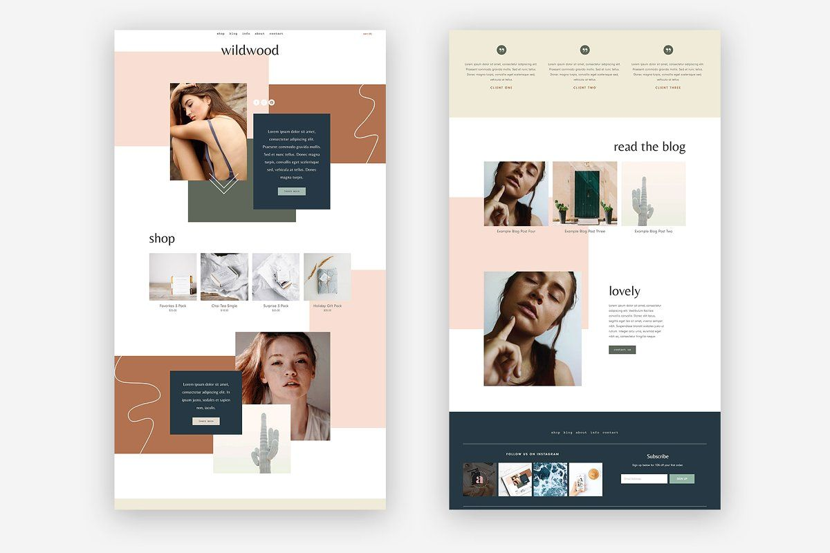 Squarespace Template Wildwood in 2020 Squarespace