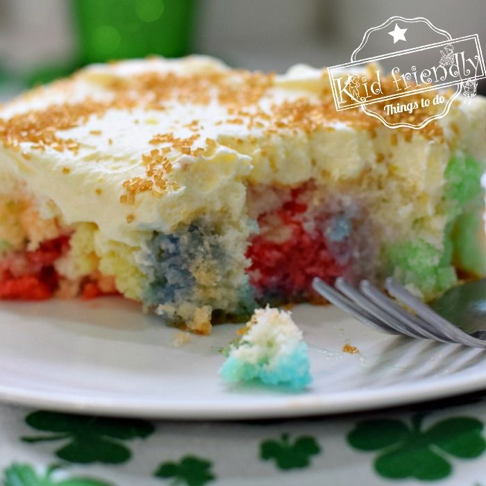 Easy Rainbow Jello Poke Cake Recipe {You Can Change Easily Transform with Any Flavor Jello} | Kid Friendly Things To Do
