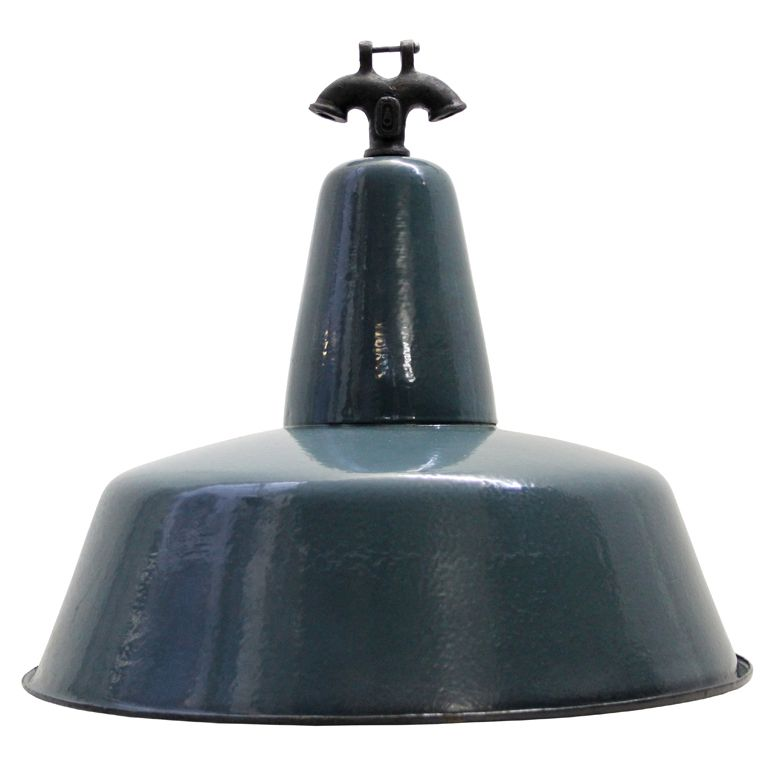 Igal Large    Blue / Green Industrial Lamp(s)