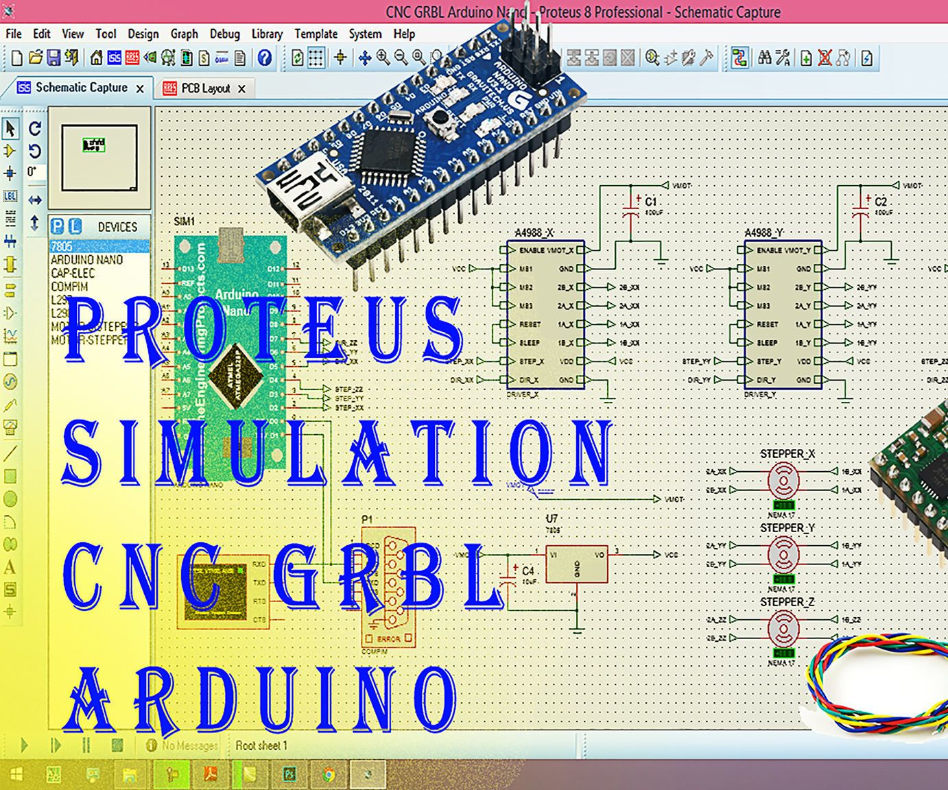 Proteus Simulation Cnc Grbl Arduino Pinterest Java Breadboard Simulator This Is How You Can Use The Program Projects Machine Read It