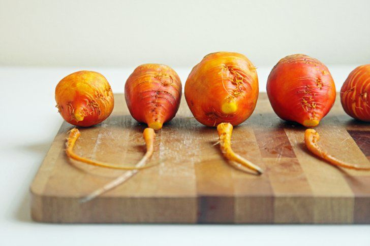 Pin for Later: How to Roast Beets, in Pictures Trim the Root Remove and discard the long root end of the beets to promote even roasting.