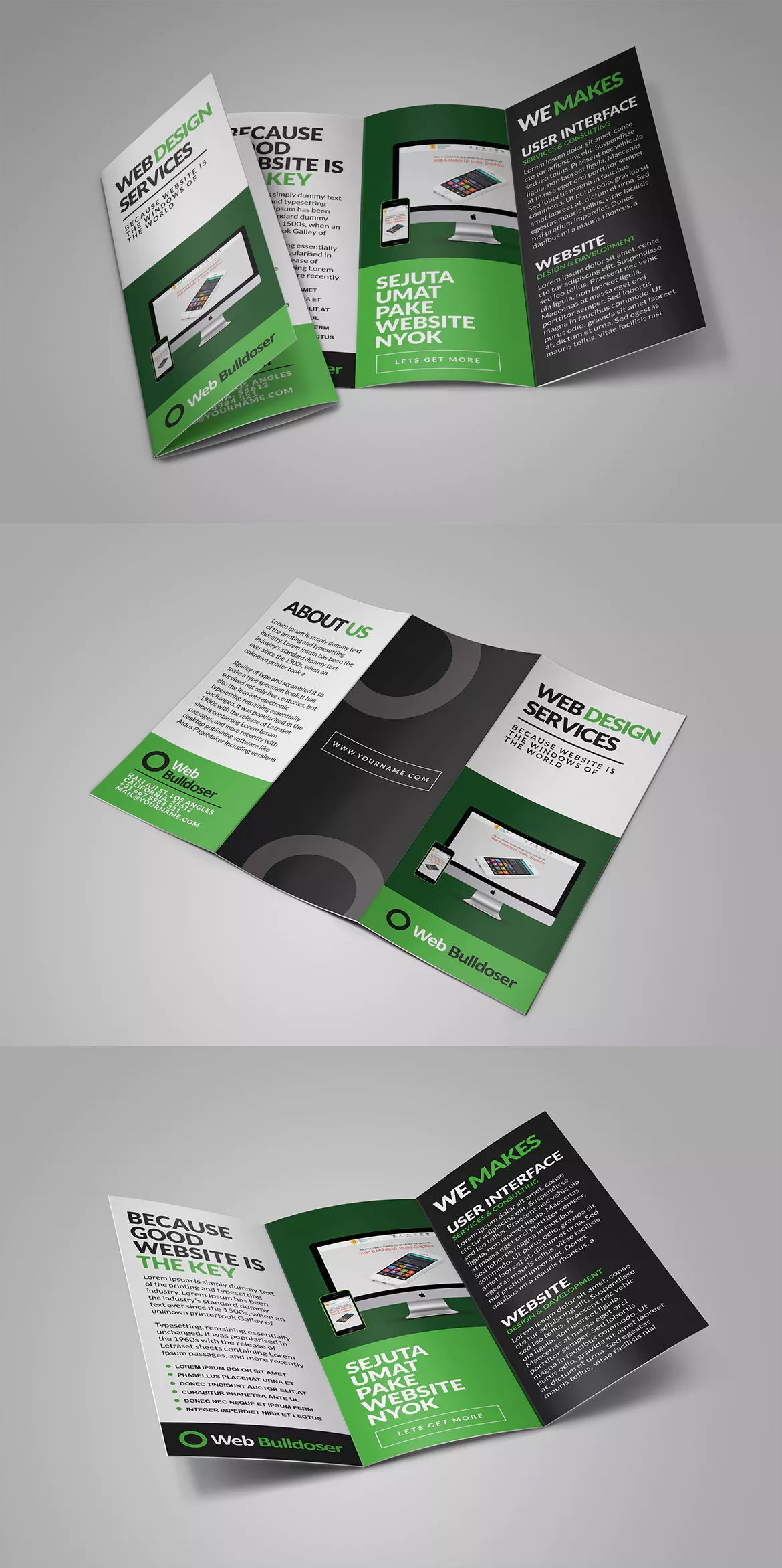Web Design Trifold Brochure Templates Psd Brochure Templates