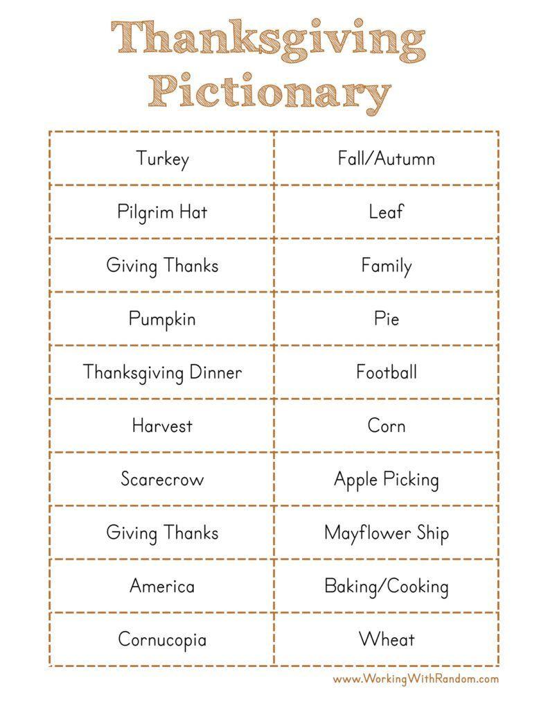 Thanksgiving Fun   Thanksgiving family games, Fun ...