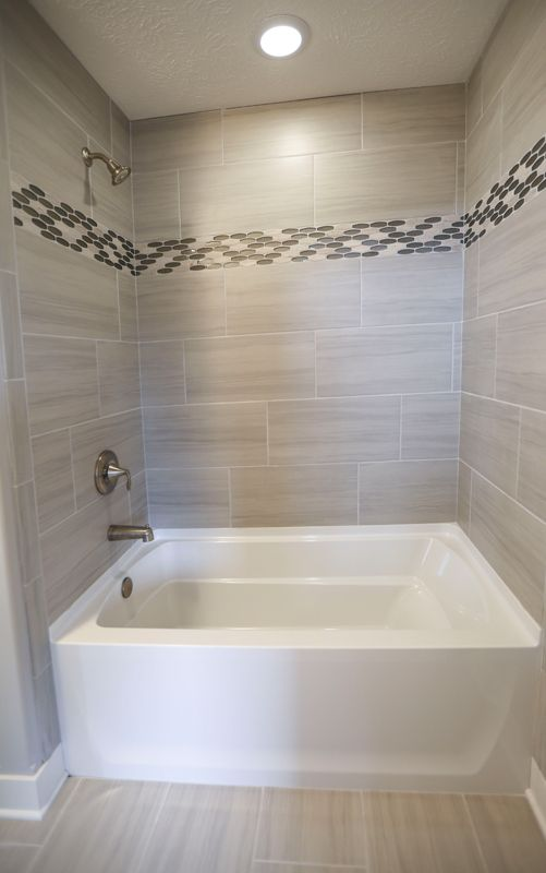 Bathtub With Tile And Tile Accent Our Home Pinterest - Bathroom tub makeover