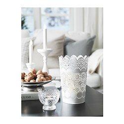 IKEA - FÖRTJUST, Svietnik, Dve funkcie: svietnik sa hodí na normálne i čajové sviečky.
