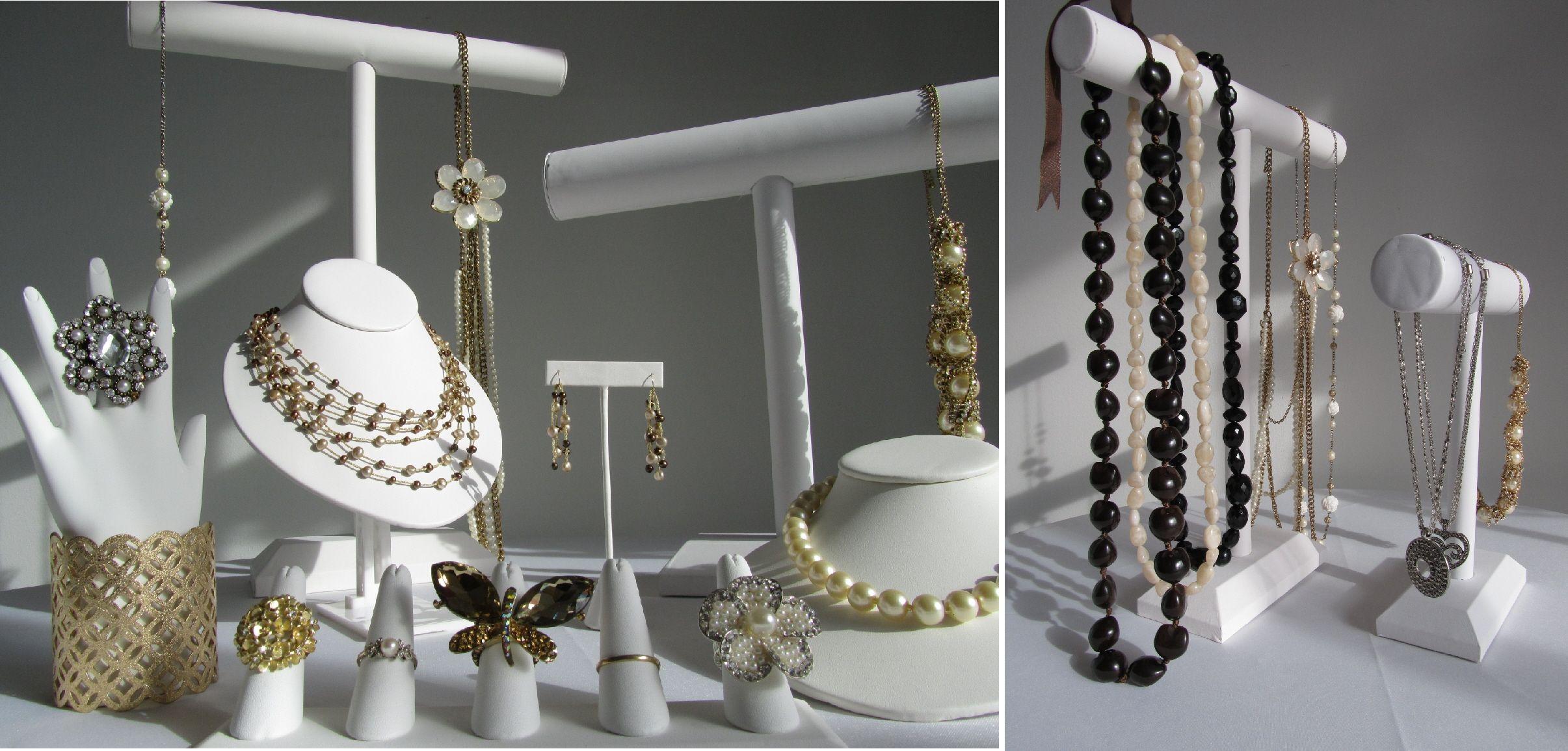White-jewelry-displayers