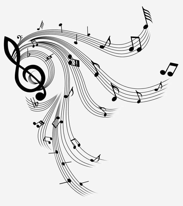 Cute Cute Black And White Musical Notes Staves Ps Path Editable Decorative Pattern Music Clipart Cute Black And White Png Transparent Clipart Image And Psd F Music Notes Art Music Illustration