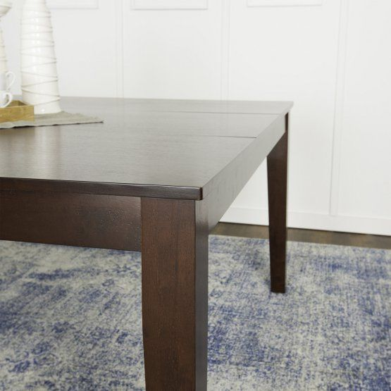 Walker Edison 60 In Cappuccino Wood Square Dining Table Dining