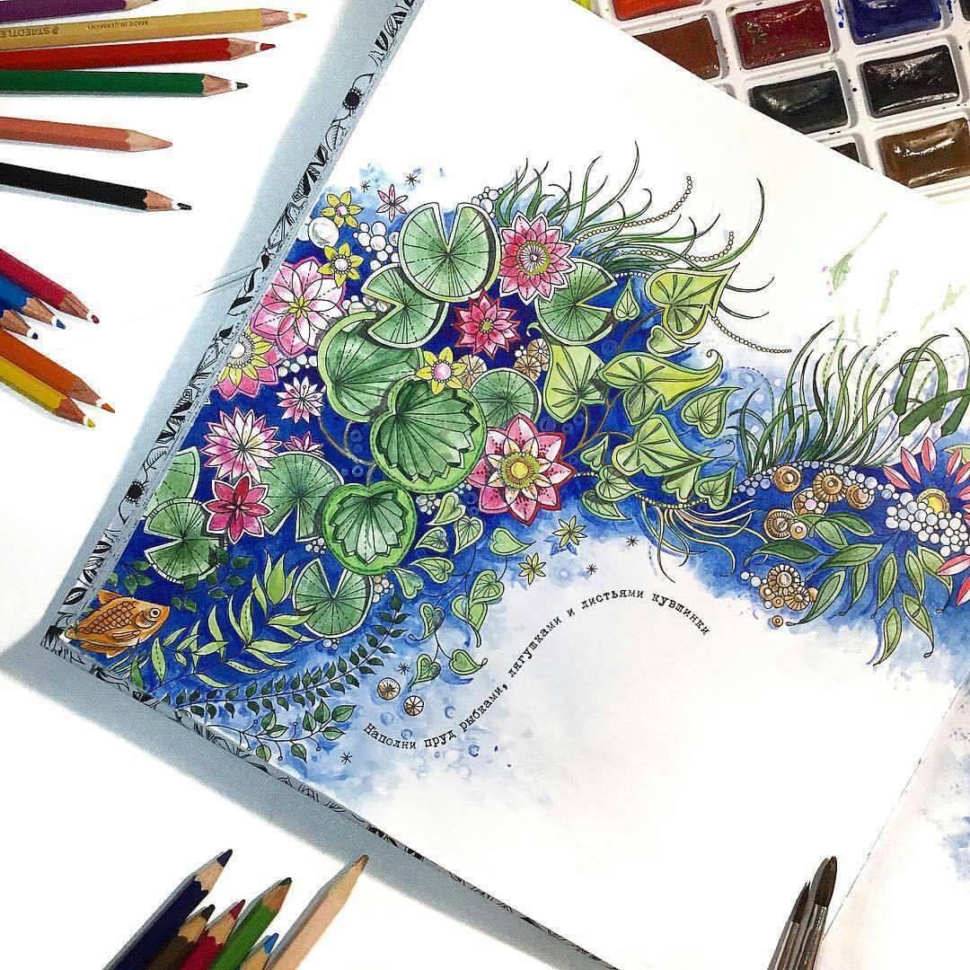 Arte Como Terapia On Instagram Very Nice Regrann From Lena Brulik Secret Garden Coloring Book Johanna Basford Coloring Book Gardens Coloring Book