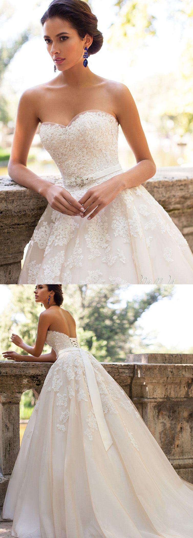 Princess Wedding Dresses, Ivory Wedding Dresses, Long Wedding ...