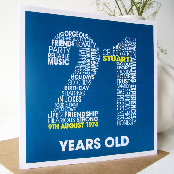 21st Birthday Personalised Card Personalized By MrsLcards