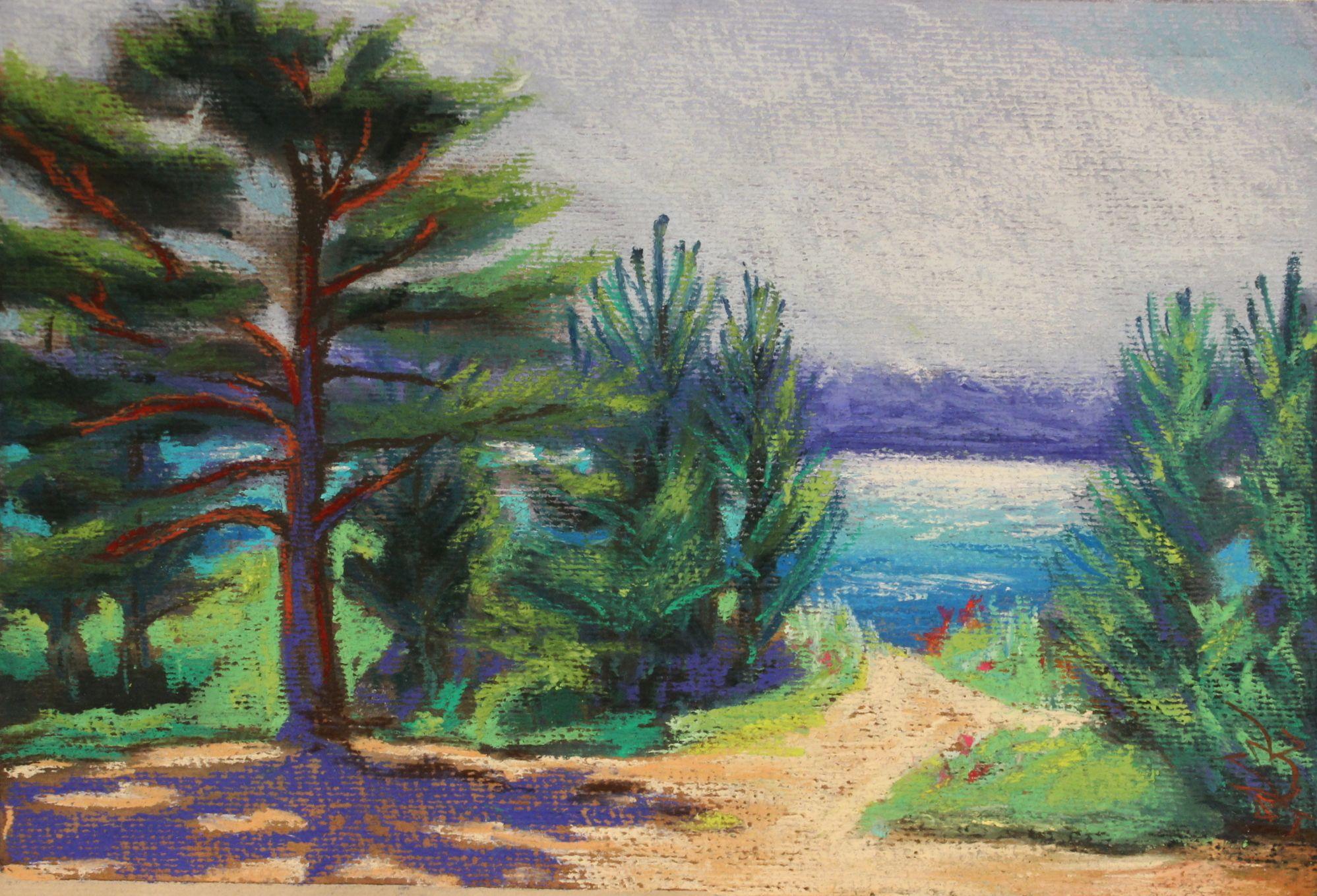 Laulasmaa maastik/ landscape.  pastell paberil A4, Keiu Kuresaar