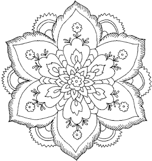 Flower Coloring Page Hard Pages