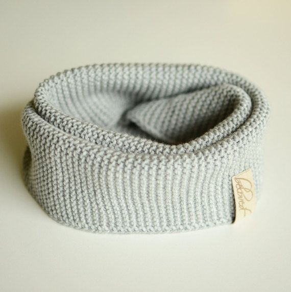 Kids Infinity Scarf Hand Knitted Wool Scarf Warm Kids by belovedLT