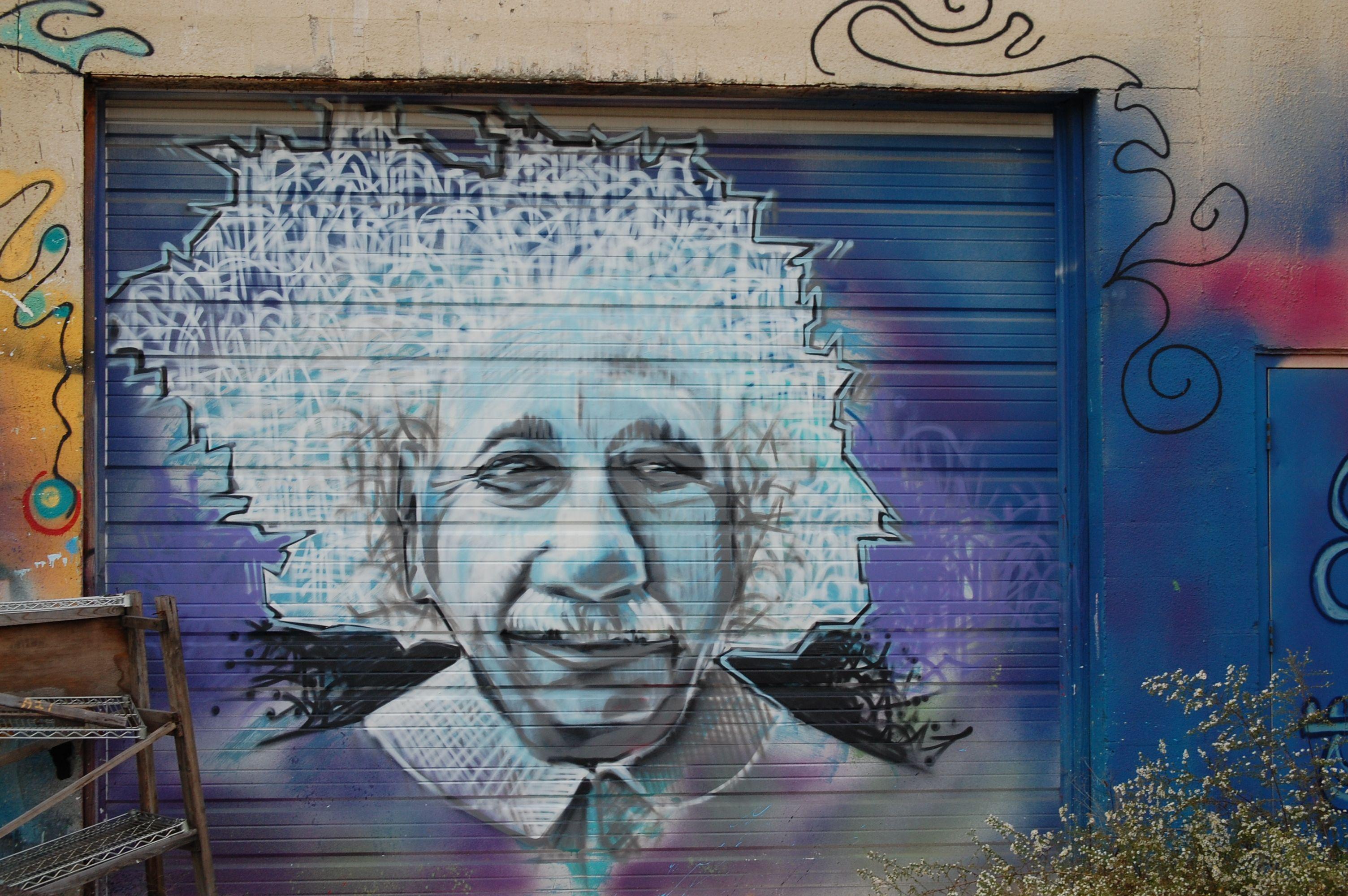 Einstein Wall Graffiti In Lexington Kentucky Wall Art Art Graffiti
