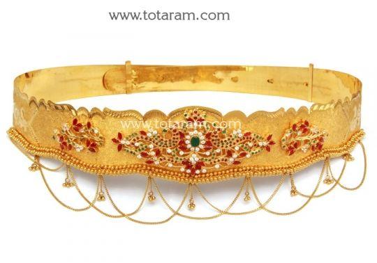 22K Gold Peacock Vaddanam Totaram Jewelers Buy Indian Gold