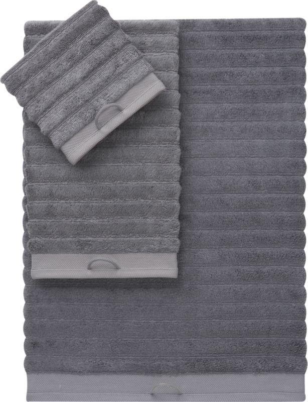 Rayon Bamboo Channel Grey Bath Towels Cb2 Grey Bath Towels