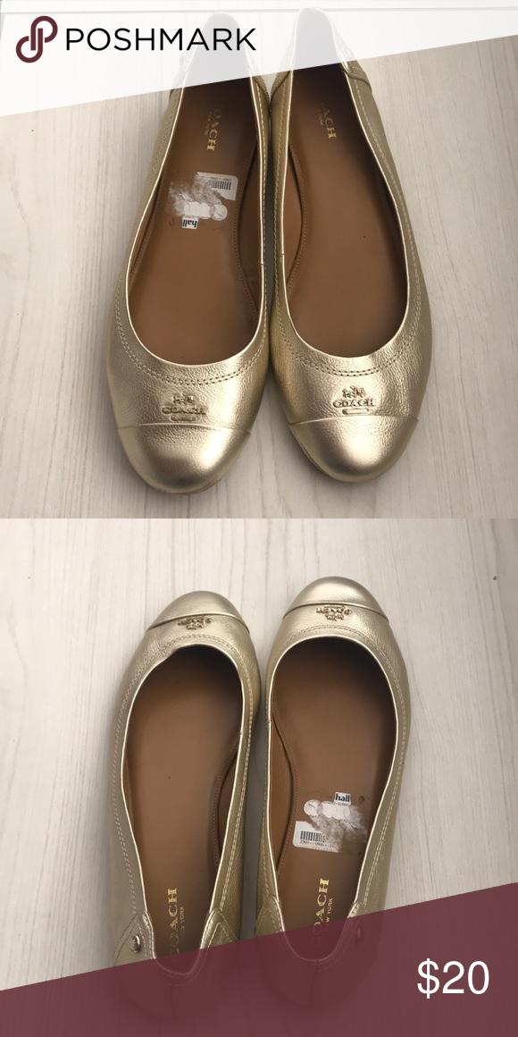 be9cd9eda9cf Coach flats Gold coach flats Coach Shoes Flats   Loafers