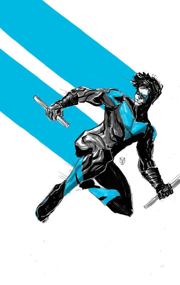 Nightwing By Https Www Deviantart Com Hydraballista On Deviantart Nightwing Nightwing And Batgirl Nightwing Wallpaper