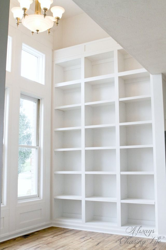 Super Tall Built In Bookshelves