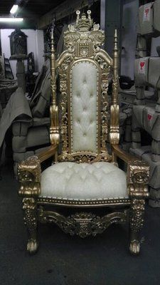 gold throne king and queen chair rental los angeles for wedding