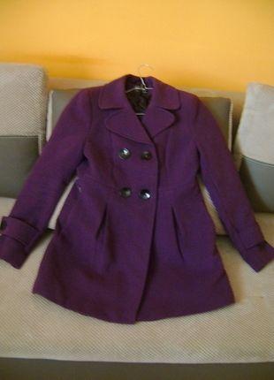 Fioletowy Plaszczyk Jesienno Zimowy Tanio Sprzedam Coat Peacoat Fashion