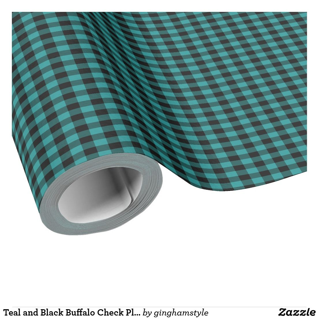 Teal And Black Buffalo Check Plaid Wrapping Paper Zazzle Com Buffalo Check Plaid Wrapping Paper Christmas Wrapping Paper