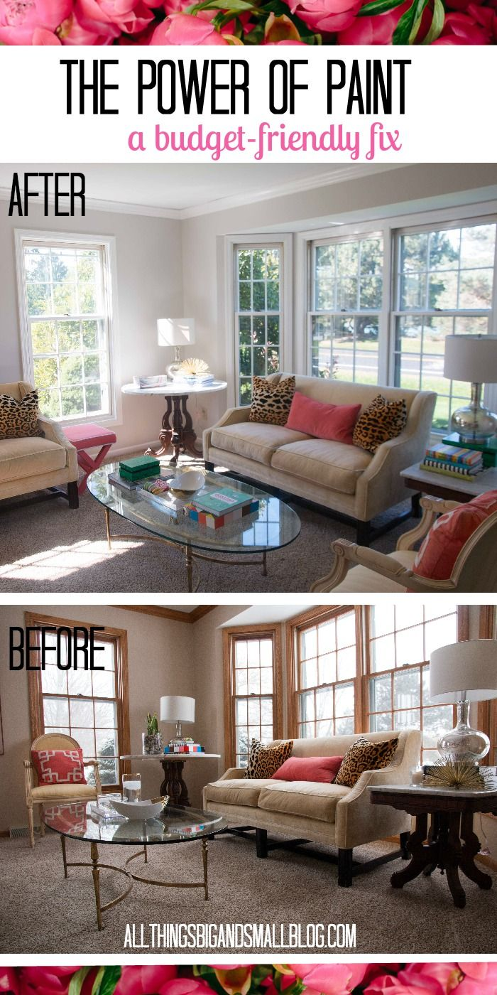The Power Of Paint Living Room Before And After Living Room Paint House Paint Interior Interior Decoration Bedroom