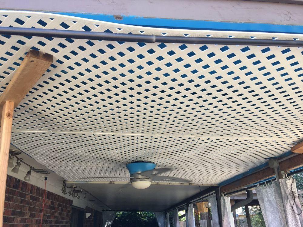 Patio Ceiling Disquise Patio Ceiling Ideas Lattice Diy Ceiling