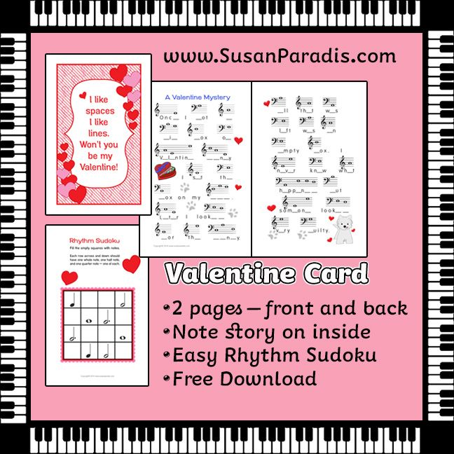 Music Valentines Day Card – Picture of a Valentine Card