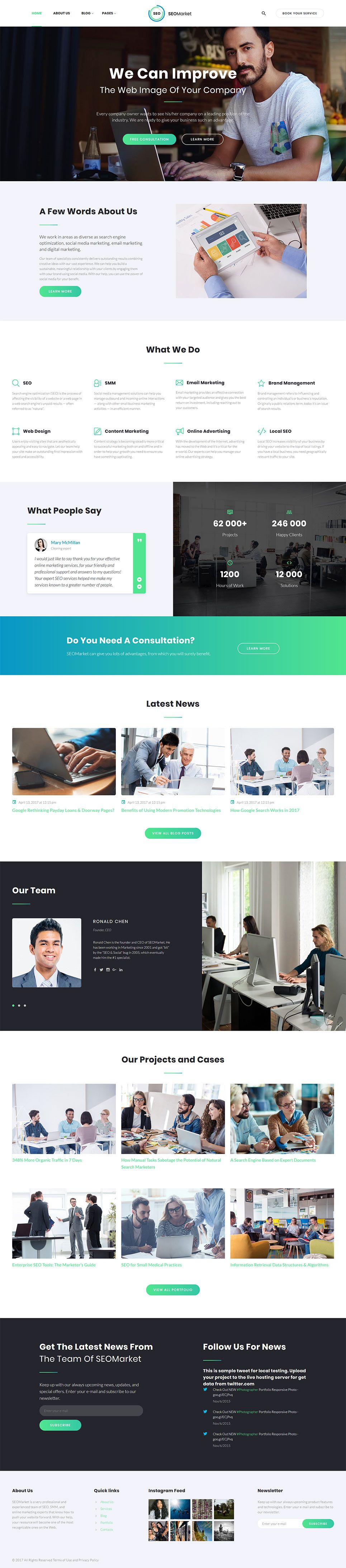 SEOMarket - SEO & Marketing Agency Website Template | Template ...