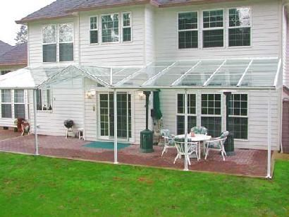 Plexiglass Patio Rain Cover On Farmhouse Architecture