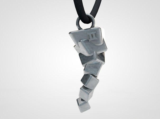 Vortex tornado pendant. 3D printed