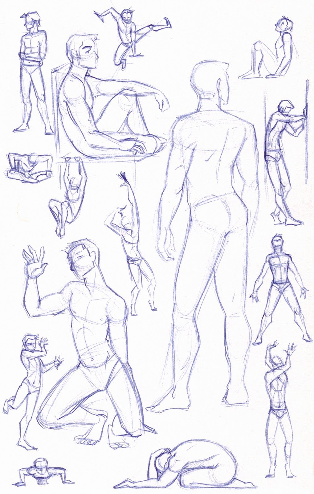 figure study sketches male by kuabci on deviantart drawing