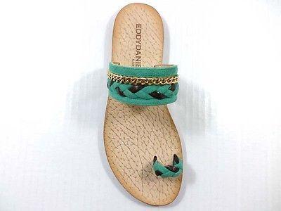 Scarpe donna EDDY DANIELE verde 37 EU sandali verde DANIELE marrone camoscio pelle 1698bb