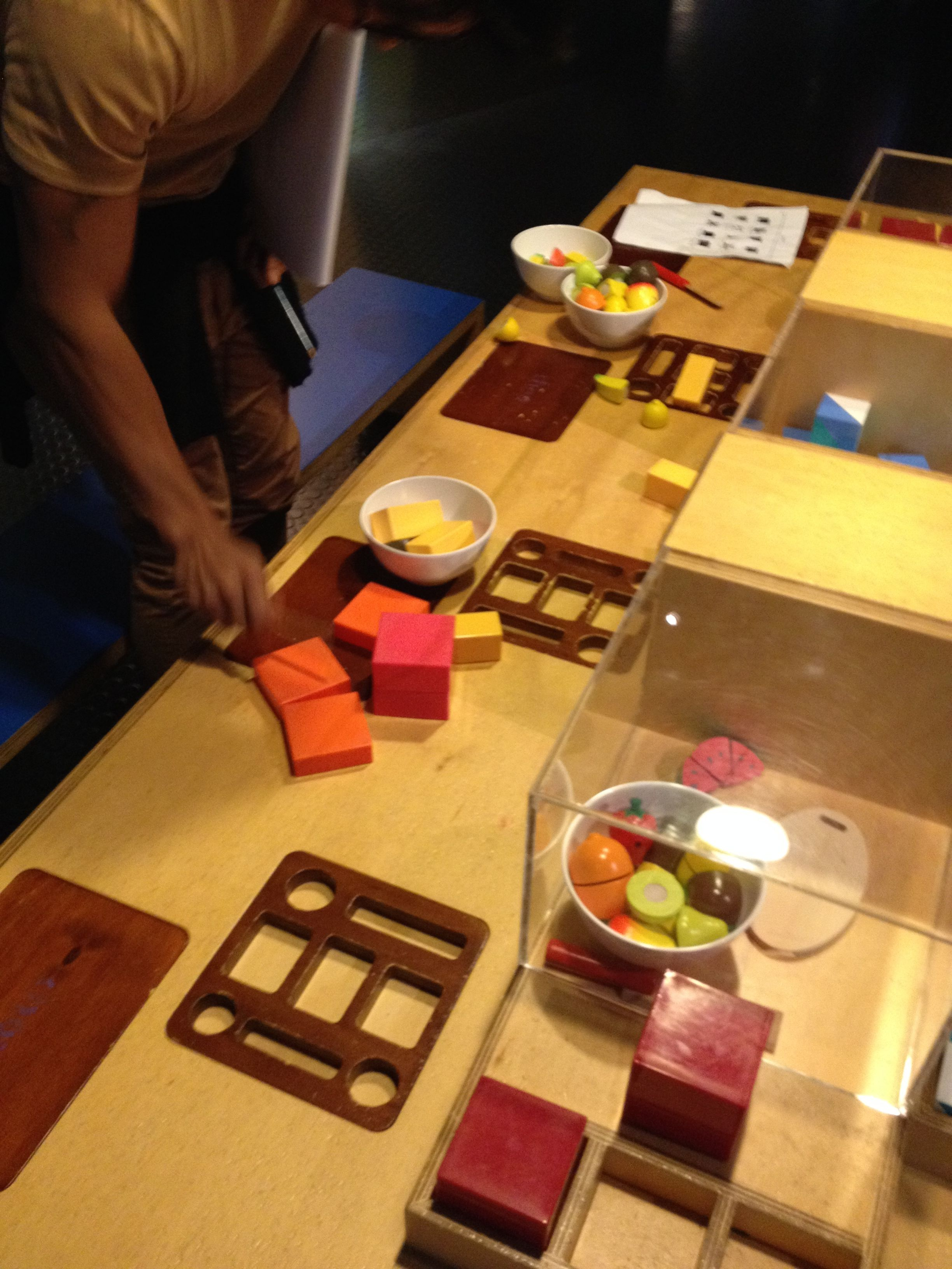 objects interaction. crafts + blocks for kids to play with #powerhousemuseum