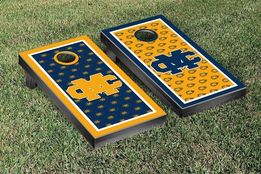 Mississippi College Choctaws Repeat Logo Wallpaper Cornhole Set