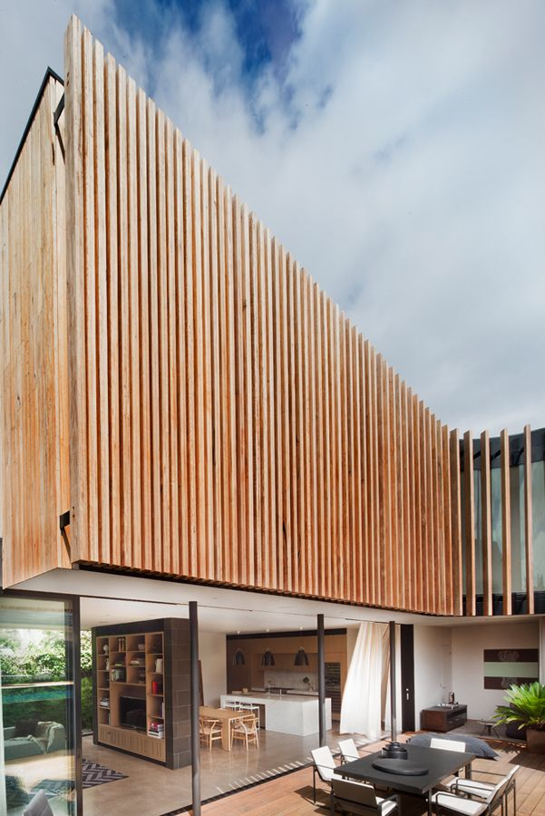 Wood Facade Architecture Detail