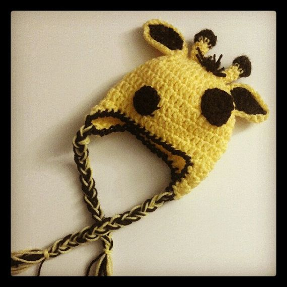 Newborn Giraffe Hat  Made to Order  by AlishaMayCreations on Etsy, $22.00