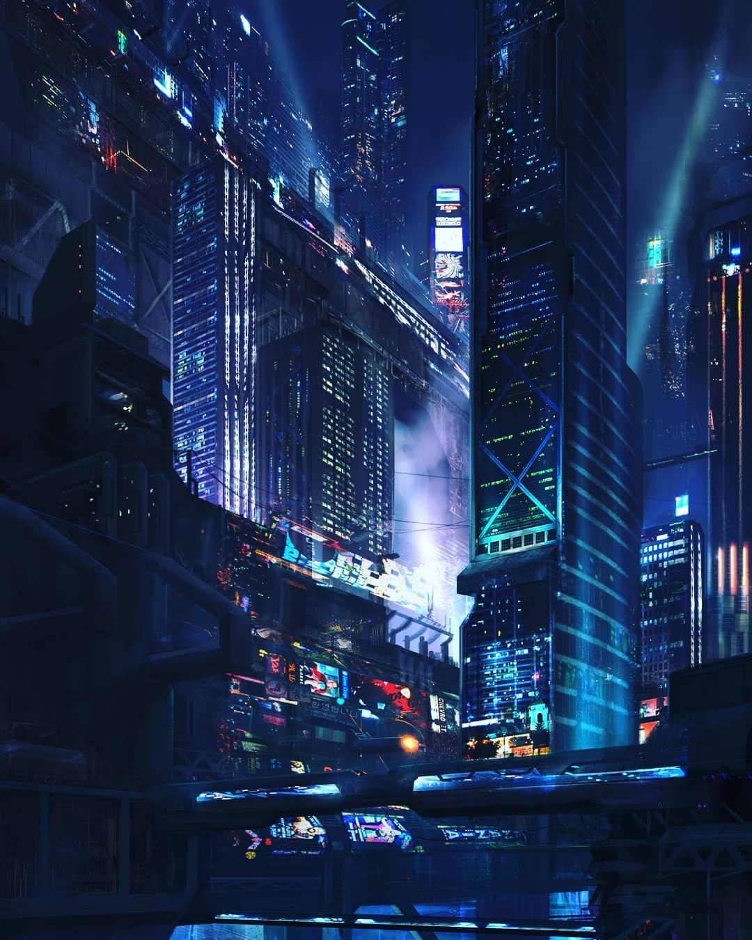 #cyberpunk #art #neon #lights #noir #replicants #androids